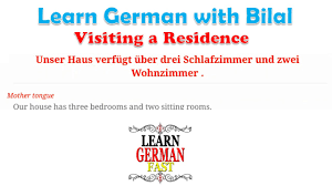 Learn German With Bilal Visiting A Residence Youtube