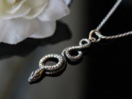 coiled snake sterling silver pendant necklace oxidized sterling silver curled snake jewelry large snake pendant tribal snake jewelry bygerene