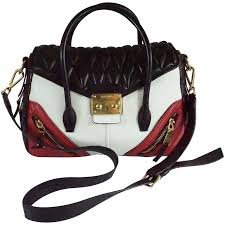 Miu Miu Black/White/Red Quilted Handbag - GHW For Sale at 1stdibs & Miu Miu Black/White/Red Quilted Handbag - GHW 1 Adamdwight.com