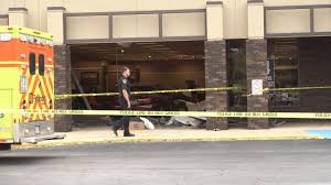 Car crashes through Badcock Furniture store building while doing a