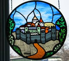 stained glass the meval city