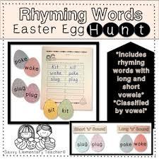 word easter egg rhyming word easter egg hunt long short vowel sounds cvc words