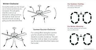 what direction should a ceiling fan run in the summer ceiling fan directions which direction should