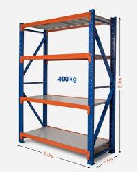 2m x 2m warehouse garage metal steel storage shelving racking shelves racks