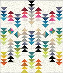 """Quilt Inspiration: Free Pattern Day! Flying Geese Quilts & Geese Migration quilt, 62 x 62"""", free pattern by Cynthia Brunz as seen at  Sew Mama Sew Adamdwight.com"""
