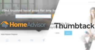 thumbtack vs homeadvisor a data driven