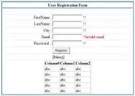 create simple registration form in asp