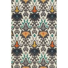 oriental weavers hampton abstract outdoor runner in ivory and multi