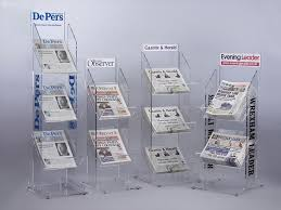 Newspaper Display Stands Amazing Acrylic Newspaper And Magazine Display Stands