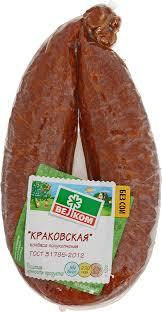 <b>Велком Краковская колбаса</b>, полукопченая в натуральной ...