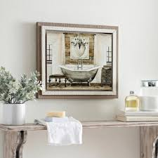 Art for bathroom Bathroom Wall Decor Grand Chrome Bath Framed Art Print Kirklands Bathroom Decor Kirklands