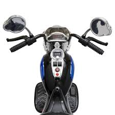 12V Kids Ride-On Motorcycle w/ Built-In Music, MP3 Plug-