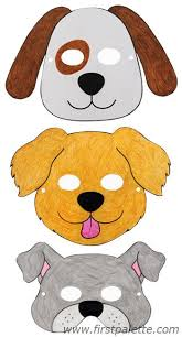 How To Make Face Mask From Chart Paper Dog Masks And Other Free Printable Animal Masks Printable