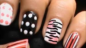 Zebra Nails with Polka Dots - Short Nails Nail Art Designs How To ...