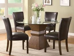 dark wood dining chairs. Small Formal Dining Room Square Flat Chairs Corner Black Set Single Standing Leg Table Dark Wooden Wood S