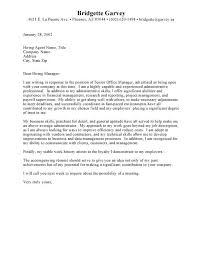 Resume Cover Letter Samples Administrative Administrative With