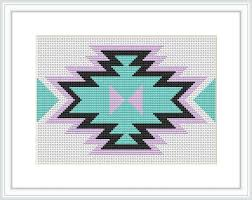 Tribal cross stitch Modern cross stitch pattern Native American