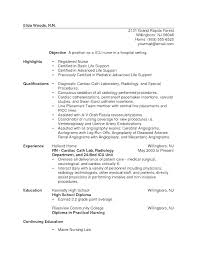Examples Of Nursing Resumes Extraordinary Telemetry Nurse Resume Sample Experienced Rn Resume Sample Nursing
