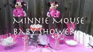 Minnie Mouse Baby Shower Decorations Minnie Mouse Themed Baby Shower Youtube