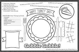 Just fun coloring with plenty of space for doodling. Kids Thanksgiving Placemat 12 Free Thanksgiving Printables My Sister S Suitcase Packed With Creativity