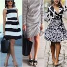 What shoes to wear with black and white leggings