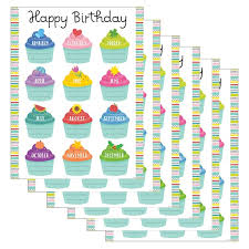 Creative Teaching Press Color Pop Birthday Chart 6ct