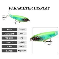 1pcs Whopper Plopper 105mm 17g Topwater Popper Fishing Lure Artificial Hard Bait Wobbler Rotating Tail Fishing Tackle 3d Eyes