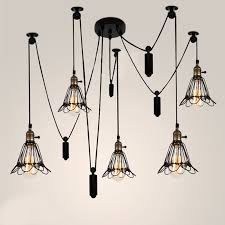 pulley lighting. vintage 6 heads industrial ceiling lamp edison light modern fashion diy design creative lights pulley lighting