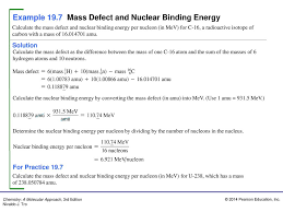 example 19 7 mass defect and nuclear binding energy