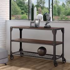 Industrial style furniture Rustic Details About Industrial Style Sofa Table Storage Console End Table Ebay Industrial Style Sofa Table Storage Console End Table 665609779575