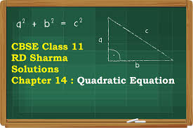 cbse class 11 rd sharma solutions chapter 14 quadratic equation