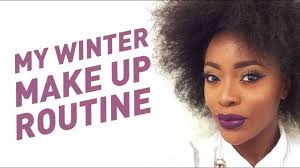 my winter makeup routine make up for dark skin aj odudu you