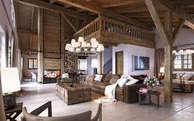 Sweet Ideas Wohnzimmer Aus Holz Rustikales Kamin Stein Balken Decken