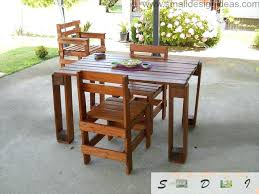 outside pallet furniture. Indoor Outdoor Furniture Universal Pallet Ideas  Table And Set Of Chairs Outside The