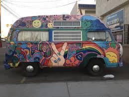 Hippie Buses Street Art And Graffiti In San Diego Graffiti 1 Vw Bus Ocean Beach