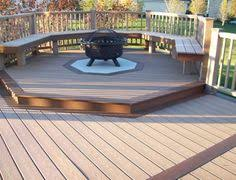 Fine Deck Ideas With Fire Pit Home Design On Perfect