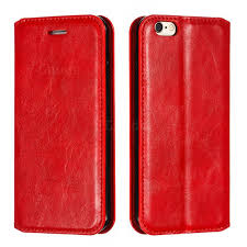 retro slim magnetic crazy horse pu leather wallet case for iphone 6s 6 6g 4 7