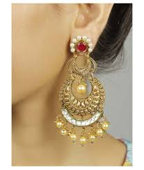 much more south indian style charming multi color chandelier earrings