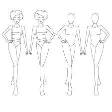 Fashion Illustration Template Female Templates Book Web Free Download