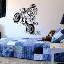 Motocross Bedroom Decor Online Buy Wholesale Vinyl Wall Stickers Moto From China Vinyl
