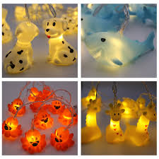 Mini Light Garland Lovely Mini Animal Night Light Fairy String Light Garland