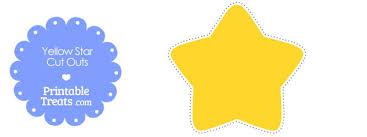 printable star printable yellow stars to cut out printable treats com