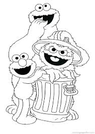 Sesame Street Birthday Coloring Pages Happy Holidays