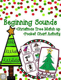 Christmas Chart Images Christmas Beginning Sounds Tree Match Up Pocket Chart Activity