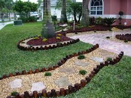 Landscape, Outsatanding Green Round Antique Grass Small Landscaping Ideas  Ornamental Gravel On Floor Design: