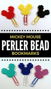 Perler Beads Mickey Mouse Designs Diy Mickey Mouse Perler Bead Bookmarks Perler Beads