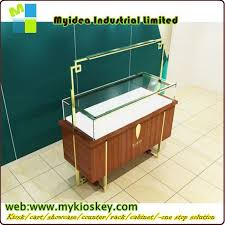 Standing Watch Display Case Luxury Glass Countertop Wooden Watch Display Pedestal Display Case 27