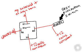 car horn wiring diagram wiring diagram train horn relay basic wiring diagram for car