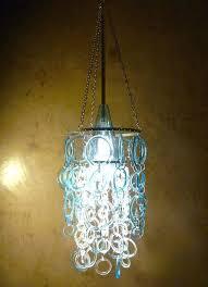 soda bottle chandelier aqua chandelier made from recycled glass bottles diy soda bottle chandelier