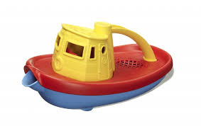 green toys boat yellow